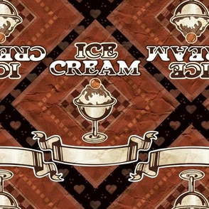 Antiqued ice cream