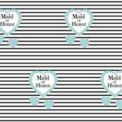 Blue Heart Black Stripes-Maid of Honor