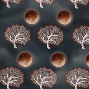 Tree and Blood Moon
