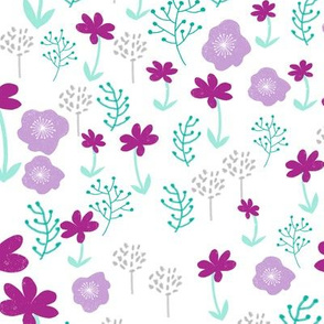 flowers // spring florals purple pastel lilac lavender mint cute girly easter print