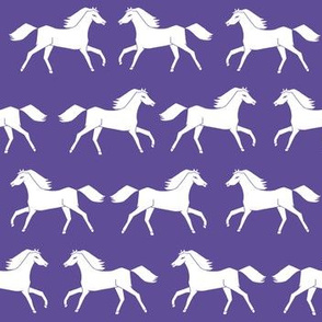 horses // girls purple horse farm animal print