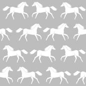 horses // grey minimal kids girls simple horse farm animal