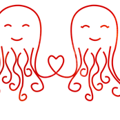 Octopus Love Red