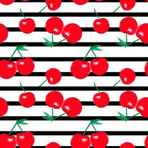Cherries on stripes