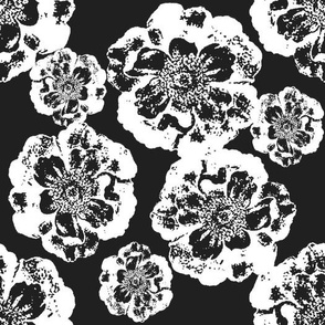 Floral in Black and White