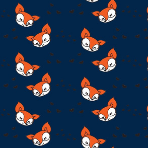 Foxes and hearts navy