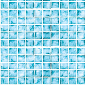 blue watercolor squares