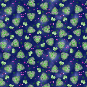 420 Leaf Heart Dark
