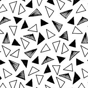 Triangles - Hand Drawn Black and White (Smaller) by Andrea Lauren