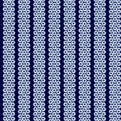 Navy daisies, on stripes of... navy