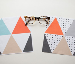 Triangle Cheater Print Orange and Grey