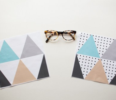 Triangle Polka Dot Cheater Print