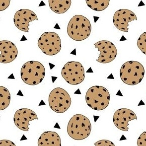 cookies // food chocolate chip biscuits kids triangle novelty small print
