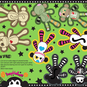 "YD - 10"" x 14"" Pillow Dolls -  Core Four Monkeys Combo"