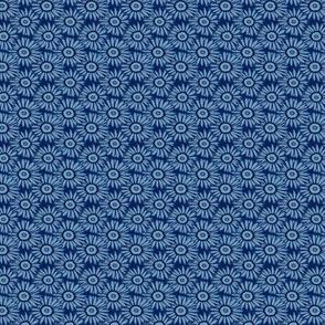 Shasta daisy dots in french blue and navy