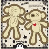 "5"" VooDoo Monkey Cut & Sew Doll"