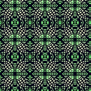 Tribal Fish Lime Green