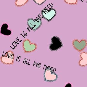 Galaxy of Hearts/ purple love