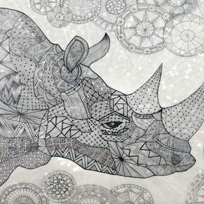 Rhino zen B/W