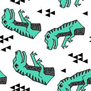 dinosaur // dino dinos dinosaurs geometric kids nursery railroad