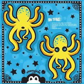 "TS - 4"" x 5"" Yellow Octopus Cut & Sew Pillow Doll"