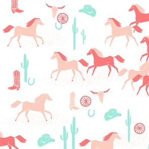 southwest baby girl // horses cactus cowgirl