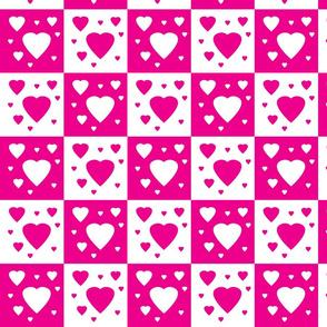 Danita's Hearts in Contrasting Colors
