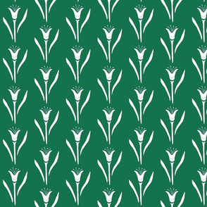 Tulip pattern-green