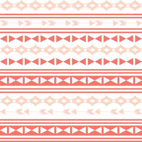 southwest stripes // coral and blush stripes triangles tri kids arrows southwest baby girls nursery