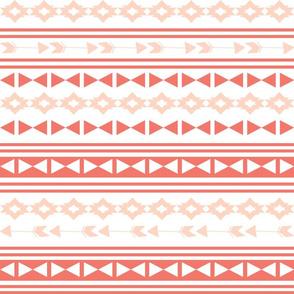 southwest stripes // coral and blush stripes triangles tri kids arrows southwest baby girls nursery