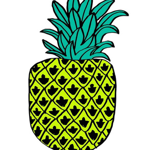 pineapple // plush cut and sew summer tropical fruit fabric