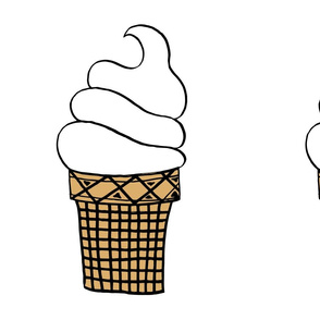 ice cream cone // soft whip ice cream cone summer food cut and sew plush pillow diy sewing fabric