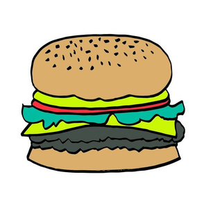 burger // veggie burger cut and sew plush pillow food novelty kids pillow