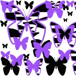 Purple Zebra Butterfly Animal Print