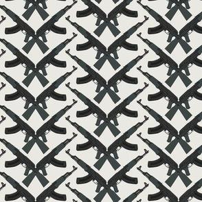 Grey army on  light grey