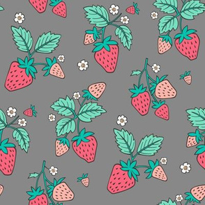 Strawberries on Grey