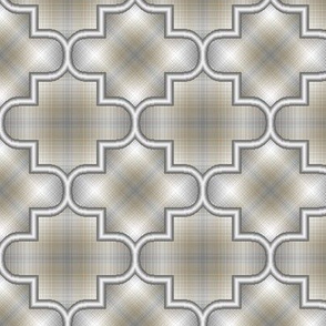 Quatrefoil Plaid 08