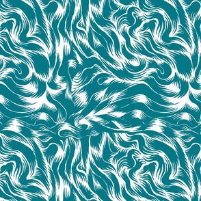 Cool molten  blue satin