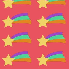 Shooting Star on Pink