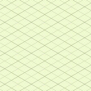 isometric graph : lime green