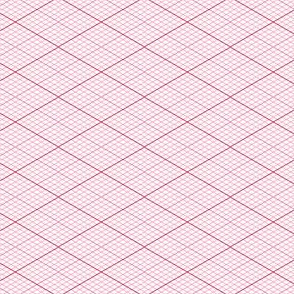 isometric graph : crimson rose
