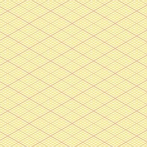isometric graph : orange yellow