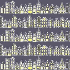 Amsterdam Row Houses (Dark Grey)