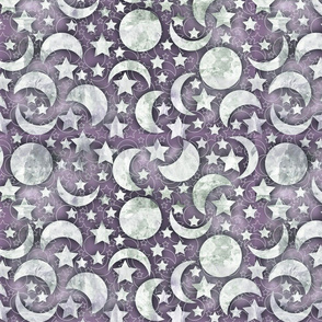 crystal moon faded purple