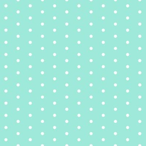dot // bright mint girls sweet little polka dots baby girl