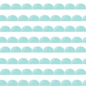 scallop // mint stripe stripes scallops scallop mint kids nursery baby basic coordinate