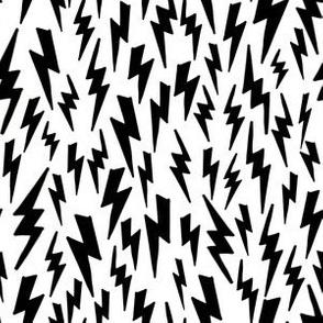 Lightning Bolt // bolt black and white modern baby nursery bedding quilt