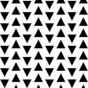 Triangles // black and white nursery quilt modern baby crib bedding