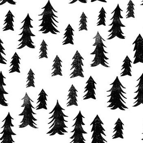 black and white trees // forest nursery camping nature minimal modern baby
