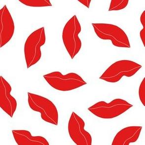 lips // valentines love kiss lipstick beauty kisses illustration